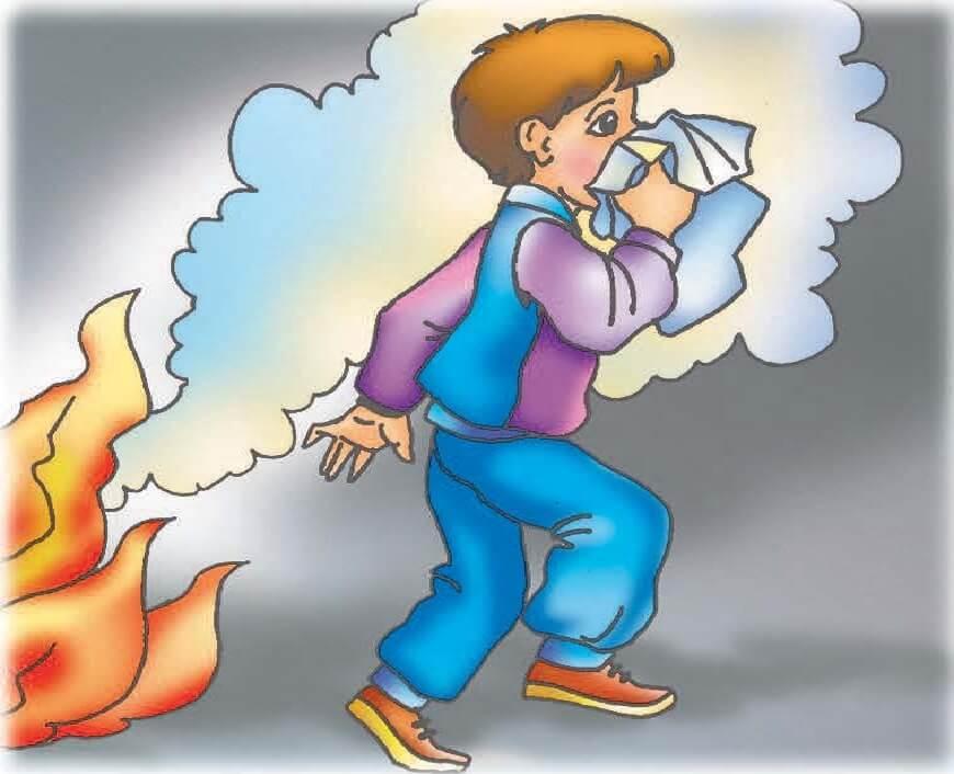 Правила поведения при пожаре памятка для детей